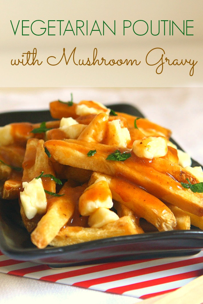 Vegetarian Poutine With Bacon Recipe — Dishmaps